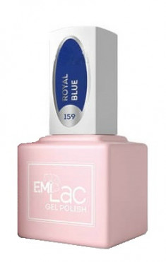 E.MI 159 FQ гель-лак для ногтей, Королевский синий / E.MiLac 6 мл