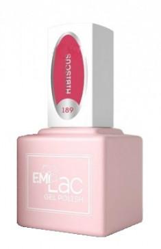 E.MI 189 GR гель-лак для ногтей, Гибискус / E.MiLac 6 мл