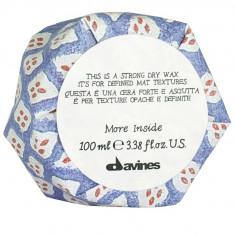Давинес (Davines) Strong Dry Wax Сухой воск More Inside для текстурных матовых акцентов 75мл