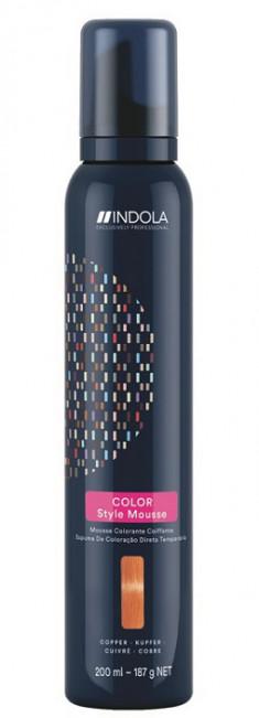 INDOLA Мусс оттеночный для укладки волос, медный / Color Style Mousse 200 мл