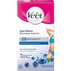 Veet полоски восковые для чувствительной кожи область бикини и подмышек Easy Gel-wax N16