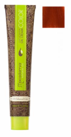 Краска для волос Macadamia Oil Cream Color 7.446 ЯРКИЙ МЕДНЫЙ КРАСНЫЙ СРЕДНИЙ БЛОНДИН 100мл