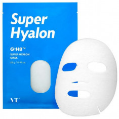 увлажняющая тканевая маска с гиалуроновой кислотой vt cosmetics super hyalon mask