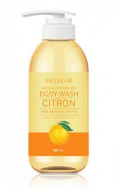 Гель для душа с экстрактом цитрона Welcos AROUND ME Natural Perfume Vita Body Wash Yuja 500мл