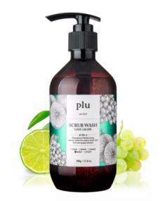 Скраб-гель для душа лайм и зеленый виноград PLU Scrub wash lime grape 500г