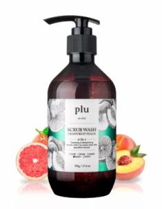 Скраб-гель для душа персик и грейпфрут PLU Scrub wash grapefruit peach 500г