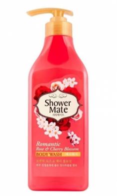 Гель для душа Роза и вишневый цвет KeraSys Shower mate romantic rose & cherry 550мл