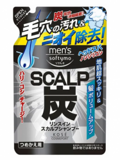 Шампунь с углем и ароматом мяты и цитрусовых Kose Softymo scalp shampoo charcoal 400мл