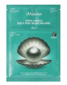 Набор трёхшаговый с черным жемчугом JMsolution Luminous black pearl balancing mask 33мл
